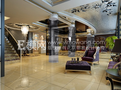 Hotel lobby 3d model free download