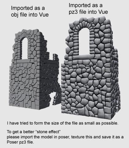 Several Groups Of Stone Walls Duanbi Model Rare Model 3d
