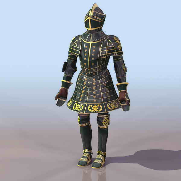European Knight in shining Armours 3ds max model