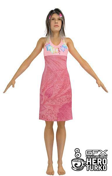Human Body 3d Model Girl In Pink 3d Model Download Free