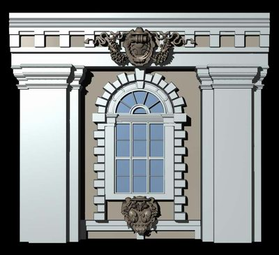 Austrian Style Architecture Demo Windows And Doors 3d