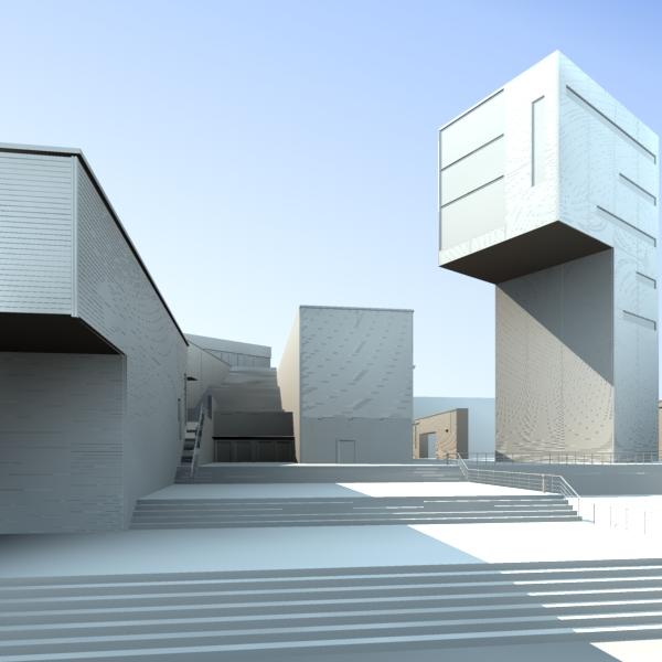 The Rooftop Design Of Skyscraper A 3d Model Download Free