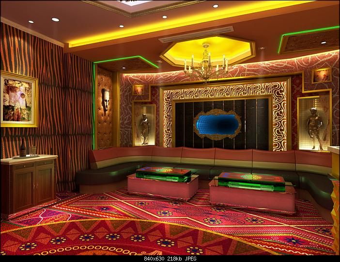 brown modern living room interior furniture