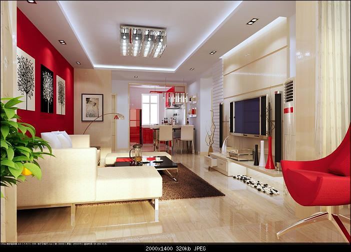 Modern elegant living room 3d model download free 3d for Living room ideas 3d