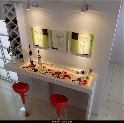 Home Decor Art Wall And Home Bar 3d Model Download Free 3d Models Download