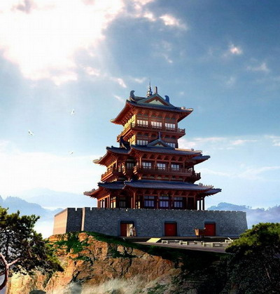 Chinese Traditional Architecture Series Tower Castle 3d