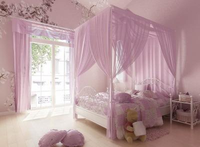 Home interior design pink theme bedroom 3dsmax model download free