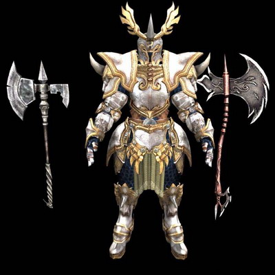 3Ds Max Model: Golden Armor Model Download Free