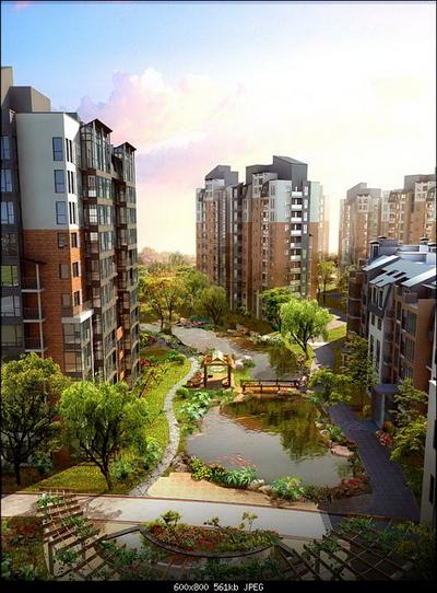 High Rise Residential Bird 39 S Eye View 3d Models 3d Model