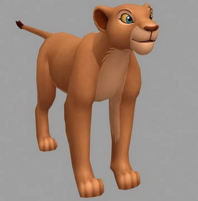 Movie Character 3d Model: Nala in The Lion King