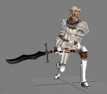 Korean Online Game Character Lineage 2 3d Model Download