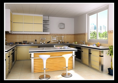 Country Style Kitchen With Map 3D Model Download Free 3D Models Download