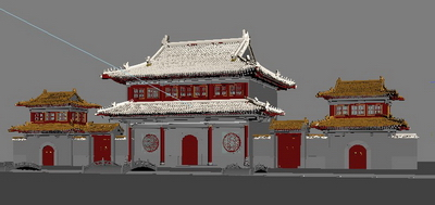 3d Model Of The Temple Gate 3d Model Download Free 3d