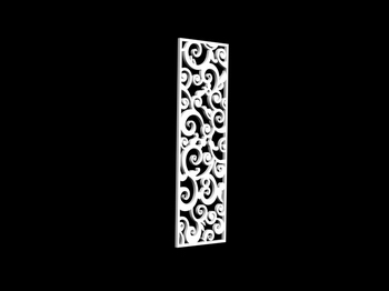 3d Model Of Chinese Carved Hollow Partition 2 5 Paragraph