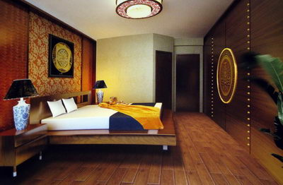 Traditional Chinese Bedroom 3d Model Including Materials