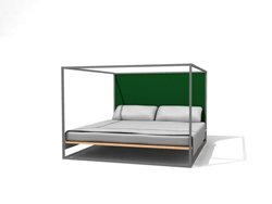 Chinese iron double bed