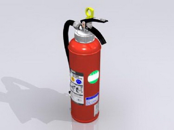 Red fire extinguisher model