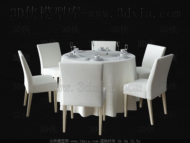 Round table 3d model free download