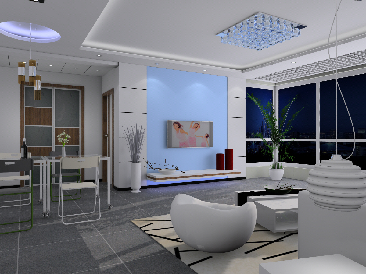 Bright and spacious modern living room 3d models 3d model for Living room designs 3d model