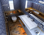Luxury bathroom 3d models