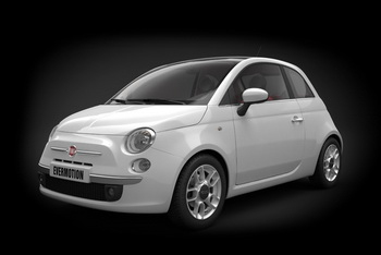 High-precision Fiat 500 car models
