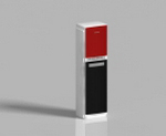 Small red and white vertical air 3D models