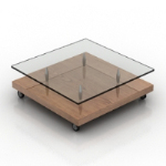 Floor transparent coffee table model