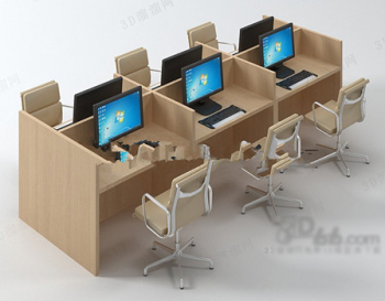 model office desk office model table model furniture model 3d