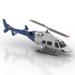 blue civilian helicopter model