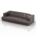 Multiplayer leather sofa 3D model