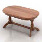 wooden table model