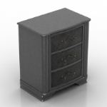 black bedside cabinet model