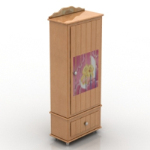 creative wooden wardrobe model