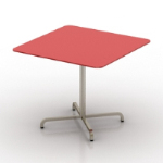 red textured table model