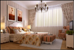 Country style bedroom 3d model