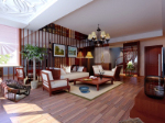 Vintage Chinese style living room 3d model