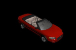 Red sports car 3D model