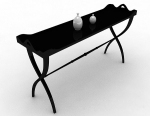 Black simple desk 3d model