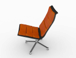 Orange leisure chair 3d model