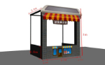 Creative selling ice cream station 3D model