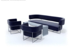 Simple black and gray sofa 3d model